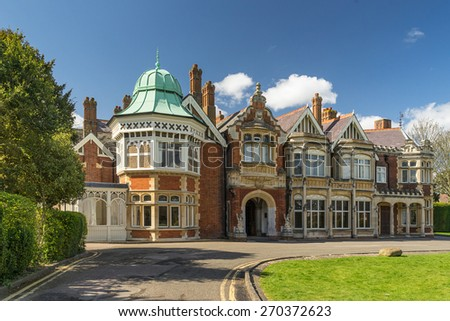 Bletchley Park in Buckinghamshire - stock photo