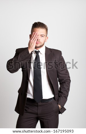 blind businessman - stock photo