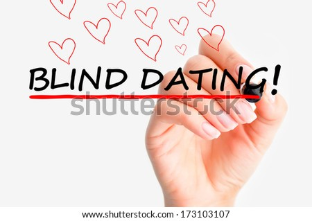 Blind dating - stock photo