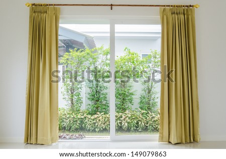 Blinds interior at home - stock photo