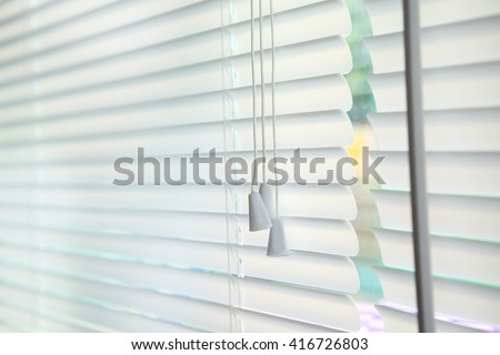 Blinds window decoration interior of room - stock photo