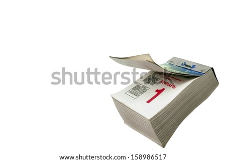 Block calendar - stock photo