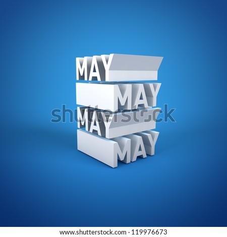 Block Calender MAY - stock photo