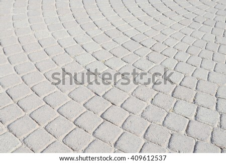 Block footpath background - stock photo