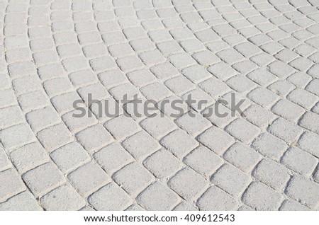 Block footpath background - stock photo