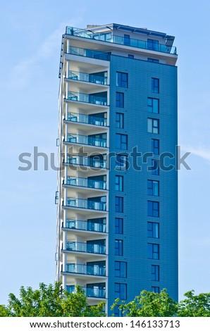block house - stock photo