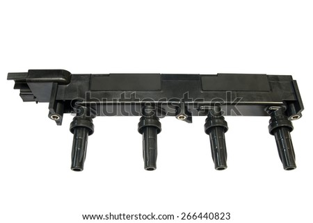 block ignition coils - stock photo