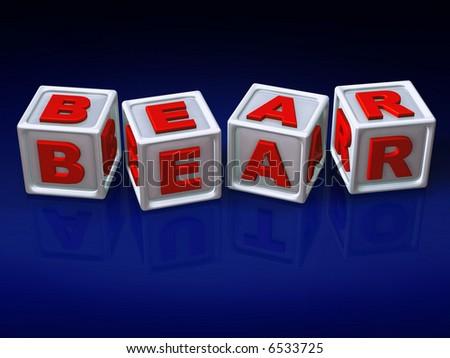 Block letters - 3d concept illustration - stock photo