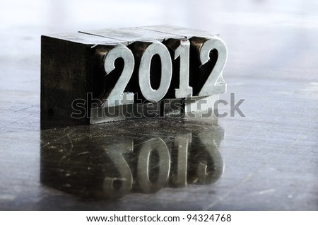 Block letters: new year 2012 - stock photo