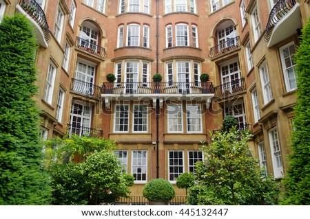 Block of London Flats  - stock photo