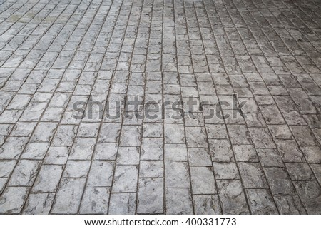 Block pavement stone pavement in perspective background - stock photo