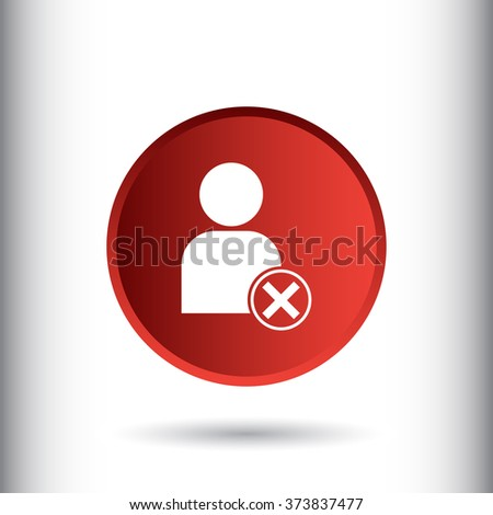 Block user icon for web and mobile - stock photo