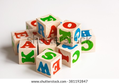 blocks with letters - stock photo
