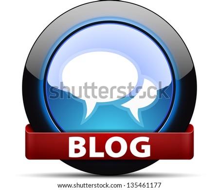 Blog button - stock photo