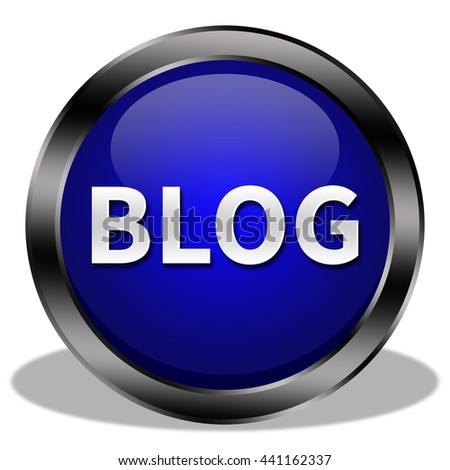 blog button isolated  - stock photo