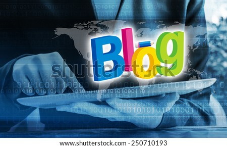 Blog concepts - stock photo