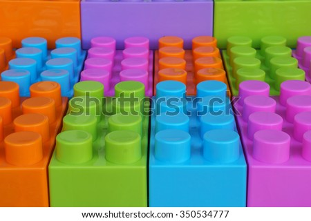 Blog plastic, building block - stock photo