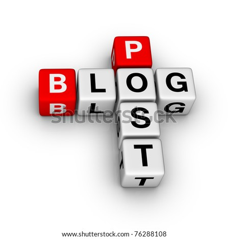 blog post icon - stock photo