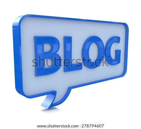 Blog speech bubble  - stock photo