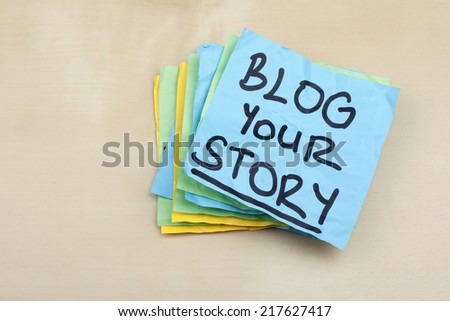 Blog Your Story - stock photo