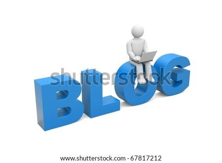 Blogger - stock photo