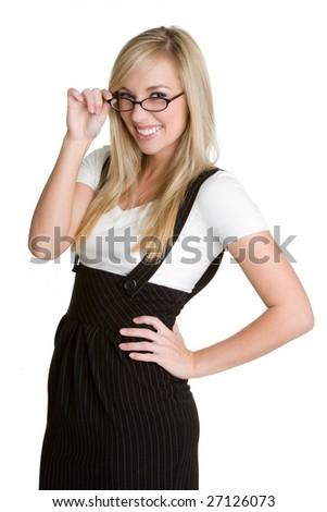 Blond Businesswoman - stock photo