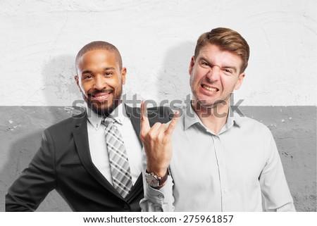 blond man disagreement - stock photo