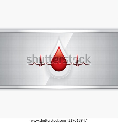 Blood donation.Medical background - stock photo