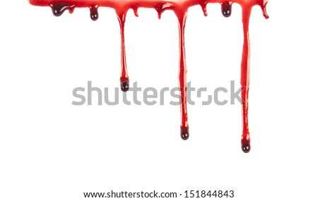 Blood Dripping - stock photo