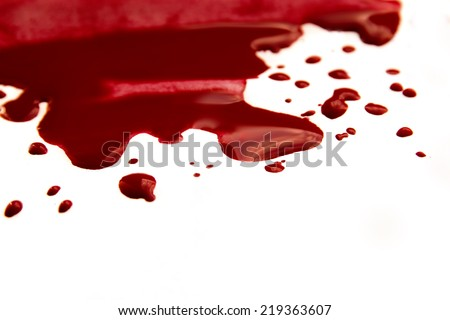 Blood pool (puddle) - stock photo