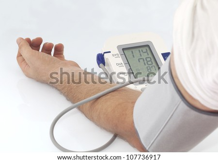 Blood pressure - stock photo