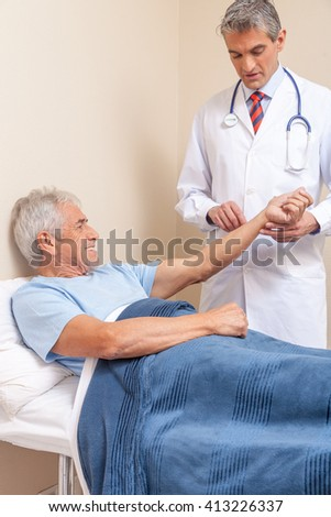 Blood pressure measuring. Doctor and patient. Hospital concept. Health care - stock photo