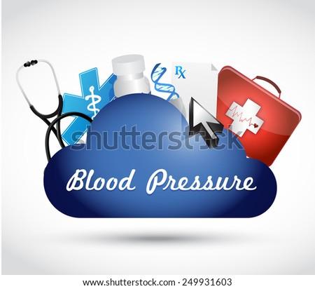 blood pressure medical cloud illustration design over a white background - stock photo