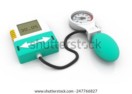 Blood pressure monitor - stock photo