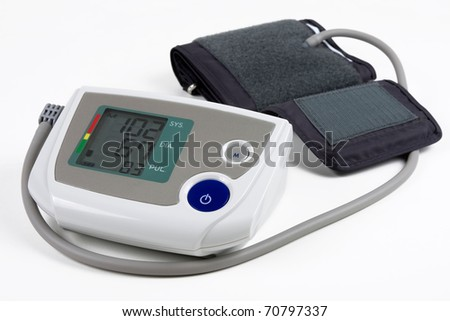 blood pressure monitor - stock photo