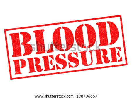 BLOOD PRESSURE red Rubber Stamp over a white background. - stock photo