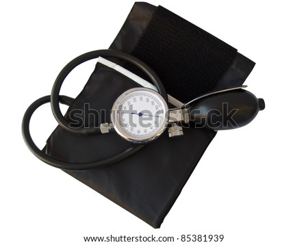 Blood pressure sphygmomanometer, with clipping path - stock photo