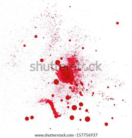 Blood spot , made myself - stock photo