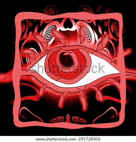 Bloody eye - stock photo