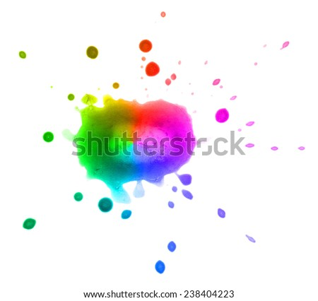 Blot isolated on white background. Multi-colored BLOB. - stock photo