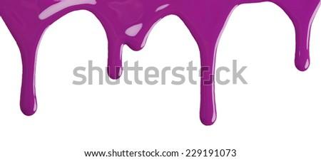 Blot of purple nail polish isolated on white background - stock photo