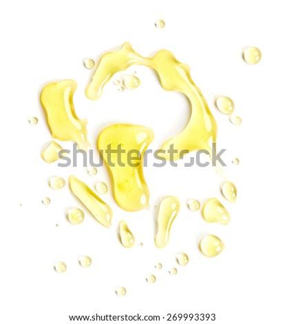 Blots of honey isolated on white background - stock photo