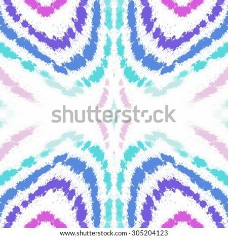 Blots spots tribal folk colorful light ornament background - stock photo