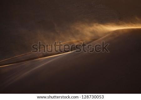 blown dune / sand dune - stock photo