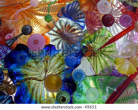 Blown glass - stock photo
