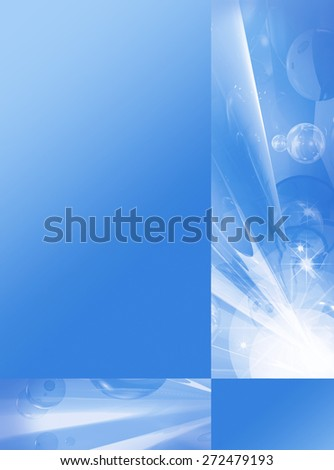 Blue abstract background, element for design brochure, catalog, website. 6 - stock photo