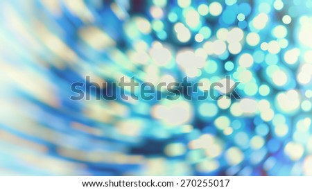 Blue abstract background holidays lights in motion blur image - stock photo