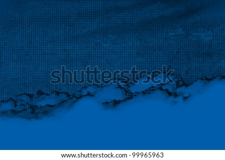 Blue abstract background, smoke-like texture. - stock photo