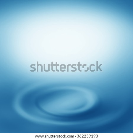 blue abstract background splash water swirl as graphic element and copy space design template - stock photo
