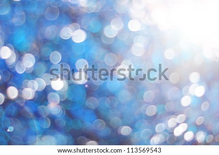 Blue abstract background with bubbles - stock photo